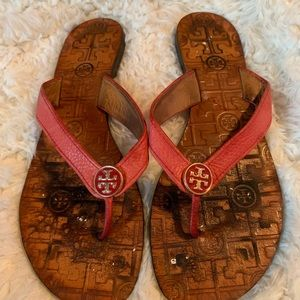 Tory Burch Leather Flip Flops Sandals